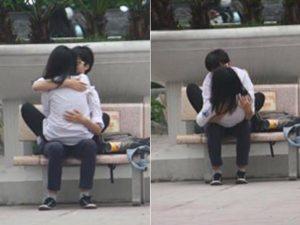 tình yêu học trò thời nay hôn nhau công khai ngay nơi công cộng