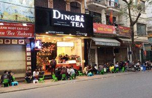 một cửa hàng trà sữa của thương hiệu trà sữa dingtea